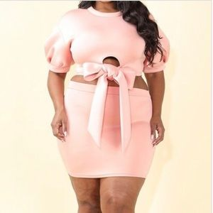 Plus Size Women's Marny Two Piece Skirt Set